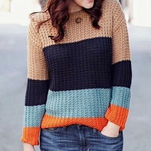 Anthro Sparrow Olaf Colorblock Striped Sweater